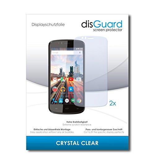 disGuard® Bildschirmschutzfolie [Crystal Clear] kompatibel mit Archos 50e Helium [2 Stück] Kristallklar, Transparent, Unsichtbar, Extrem Kratzfest, Anti-Fingerabdruck - Panzerglas Folie, Schutzfolie