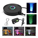 KAPATA Fish Tank Light Underwater Air Bubble Color Changing LED Air Stone
