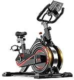 XUSHEN-HU Bicicleta estacionaria de transmisión del cinturón Cubierta Ciclo de la Bici del Volante y Sensor/Monitor LCD/FOR iPad Monte la Bicicleta estática W/Manillar Ajustable for el hogar Car