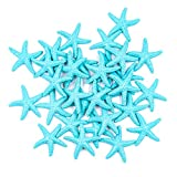 AUEAR, 30 Pcs Lovely Starfish Decor Pencil Finger Resin Starfish for Wedding Party Crafts and Home Decoration (Light Blue)