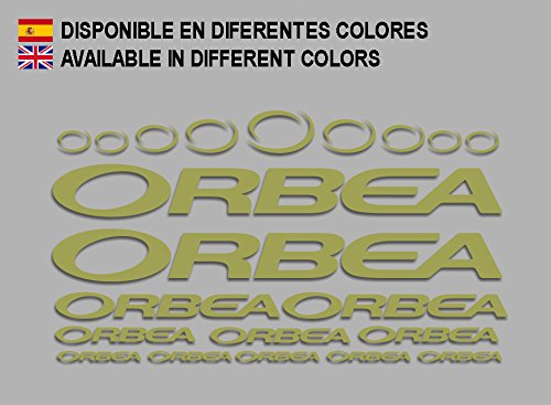 Ecoshirt 7P-MPYP-092N Pegatinas Orbea F208 Stickers Aufkleber Decals Adesivi Bicycle Bike MTB BTT, Gold