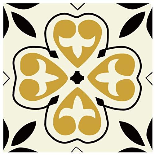 15 unids/Set 8/12/15 cm Tiles de Estilo de Europa Pegatinas de Pared Diagonal Baño Cocina Cintura Línea Línea Arte Mural Tile Vinilo Vinilos de Pared (Color : CZ0025, Size : 8CMX8CMX12PCS)