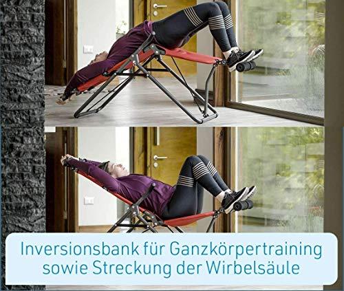 Mediashop BackLounge   Inversions-Rücken-Trainer   Inversionsbank   Streckung der Wirbelsäule   bis zu 110 kg dynamisch, 250 kg statisch belastbar   integrierte Massagerollen   zusammenklappbar - 5