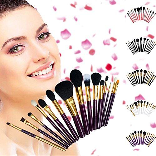 Ensemble de pinceaux de maquillage professionnel de 15 pièces,Pink