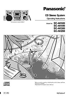 Panasonic SA-AK200 SA-AK300 SK-AK490 SA-AK500 CD Stereo Instruction Manual Reprint [Plastic Comb] Every Instruction Manual