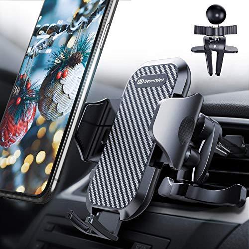 Handyhalter fürs Auto Handyhalterung 2020 Upgrade Lüftung Halterung mit 2 Lüftungsclips Universale Smartphone Halterung Kfz 360° Drehbar für iPhone11 11 Pro Samsung Galaxy Note10 Huawei LG usw.