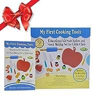 My First Cooking Tools - 小さなシェフのための知育用子供安全ナイフ&スナック作りセット - 新しい!細かい運動スキルと目と手の協調を強化!初心者のファーストシェフナイフ 子供 幼児