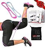 Starktape Fitnessbänder Booty Bänder resistenter Übungsgürtel| Set aus 2 dicken Hüftbändern,...