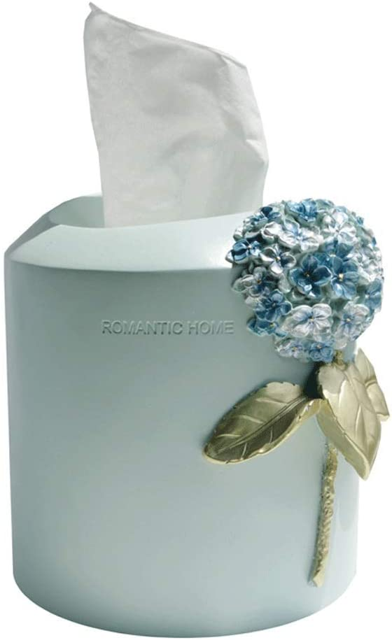 AERVEAL Outlet SALE Philadelphia Mall Resin Roll Paper Holder Hydrangea Cover Tissue Box Roun
