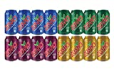 16 Pack of Zevia Soda Zero Calorie Drinks, Cream Soda, Cola, Black Cherry, Ginger Ale, Stevia Infused Sugar Free Keto Drink Cans, Organic Mini Fridge Restock Set