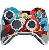 Comic Book Hero Polygon Design Vinyl Decal Sticker Skin by egeek amz for Xbox 360 Wireless Controller