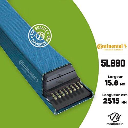 Courroie tondeuse 5L990 Continental Kevlar - 15,8 x 9,5 x 2515 mm - Pièce neuve