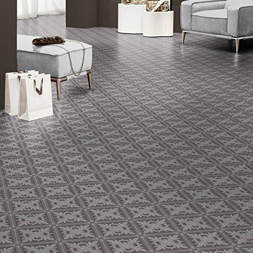 PVC Bodenbelag Retro Fliese Grau Istanbul Textilrücken Tarkett 280T (Musterstück DIN A4)