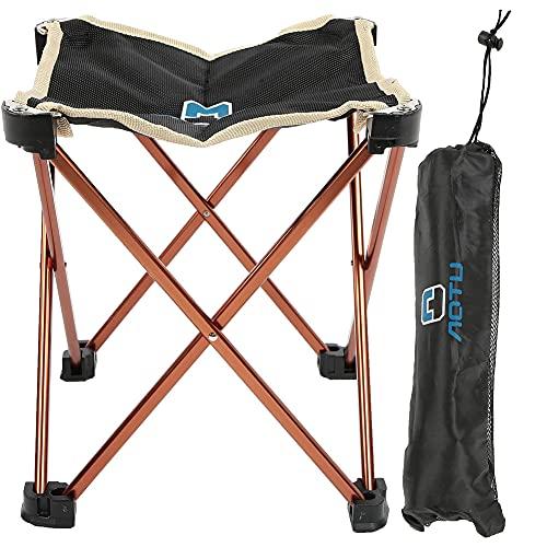 OhhGo Taburete plegable portátil al aire libre de la silla de la aleación de aluminio para acampar Pesca