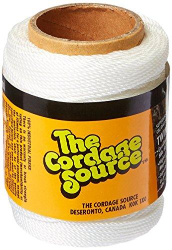 Cordage Source 89 No.18 Twisted Nylon Twine, 250-Feet, White