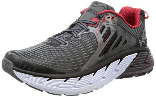 HOKA ONE ONE Men's Gaviota Running Shoe, Black/Formula One, 10.5 D(M) US