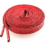 Glitter Shoe Laces (2 Pairs 45') Sparkly Shiny Flat Shoelace for Sneakers Canvas Athletic Girls' Cheerleading Shoes