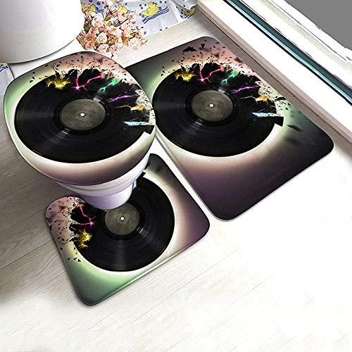 Odelia Palmer Video Disk CD DJ 3 Pack Alfombra de baño Contorno Mat...