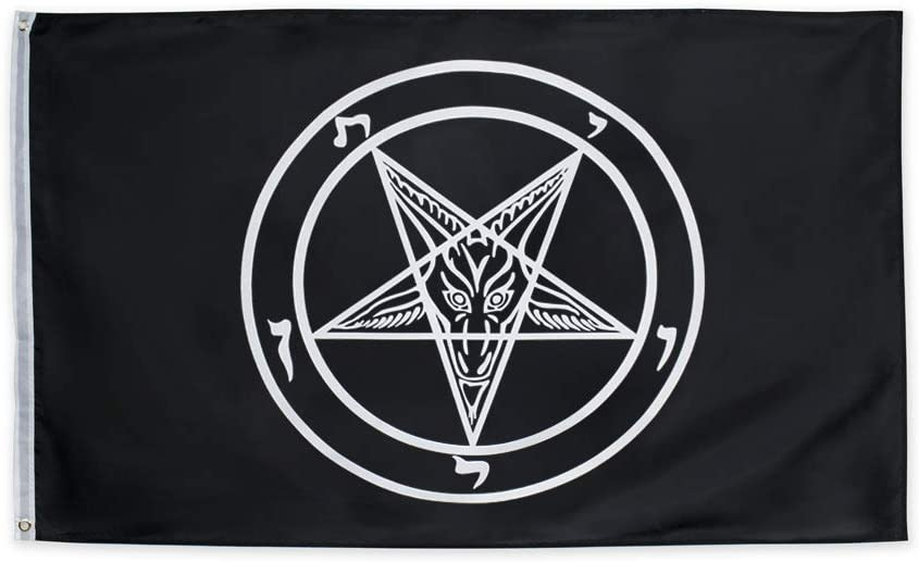 ANJOR 3x5 Fts Baphomet Flag Church Satan Templar Selling outlet and selling