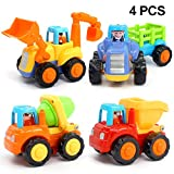 ORWINE Inertia Toy Early Educational Toddler Baby Toy Friction Powered Cars Push and Go Cars Tractor Bulldozer...