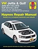VW Jetta and Golf Haynes Repair Manual: Jetta 2011 thru 2018 * Golf 215 thru 2019 * Includes GLI, GTI, Jetta Sportwagen, Golf Sportwagen, Golf R 4Motion and Golf Alltrack (Haynes Automotive)