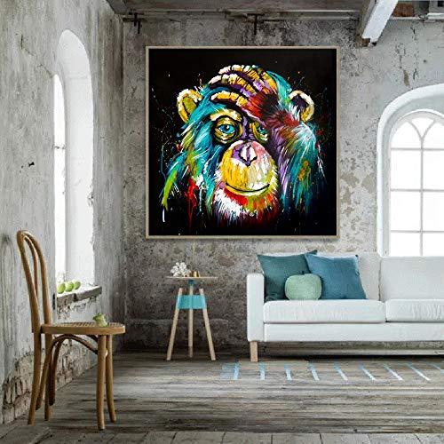 KWzEQ Leinwanddrucke Denkender Gorilla für Wanddekoration posterliving Raumplakate und Dekor40x40cmRahmenlose Malerei