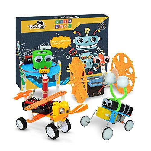 POKONBOY DIY Electric Motor Robotic Kits, STEM Toys Science Experiment Kits Engineering Science...