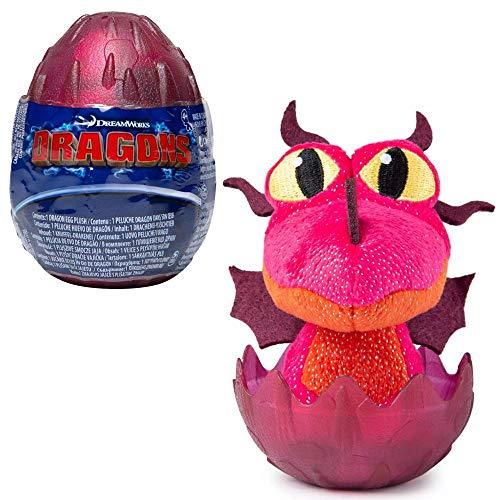 Dragons Auswahl Drachen-Ei | DreamWorks Egg Plüsch-Figur, Farbe:Bordeaux