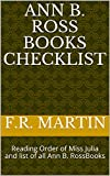 Ann B. Ross Books Checklist: Reading Order of Miss Julia and list of all Ann B. RossBooks (English Edition)