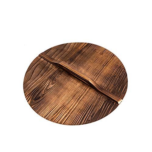ZhenSanHuan Natural Wood Wok lid/Cover Healthy and Environment Friendly Light (36cm/14inch)