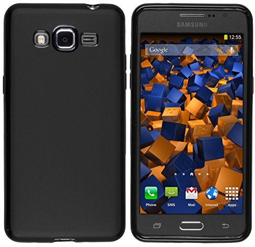 mumbi Hülle kompatibel mit Samsung Galaxy Grand Prime Handy Case Handyhülle, schwarz