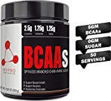 Mypro Sport Nutrition Premium BCAA's with 5G of Pure Proven 2:1:1 Ratio Muscle Recovery-Muscle Protein Synthesis-Lean Muscle-Improved Performance-Hydration-50 Servings-250 Gm (Blue Raspberry) bcaa blue raspberries May, 2021