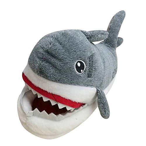 Zapatillas de Casa Animales Slippers Cómodas Cálidas Suaves y Divertidas Pareja Zapatos Tiburón 35-42
