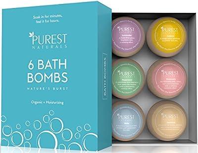 Bath Bombs Christmas Gift Set Kit 6 x 4 Oz Best Ultra Lush Fizz Essential Oil Handmade Spa Bomb Fizzies Perfect for Bubble & Spa Bath Organic & Natural Ingredients Tub Tea Bath Basket