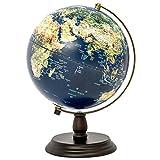 Globo Adorno La Enseñanza Globo LED en relieve la tierra iluminada Globe for niños juguetes educativos, material de oficina, profesor de Escritorio Decoración ( Color : Azul , tamaño : Un tamaño )