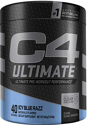 C4 Ultimate Pre Workout Powder ICY Blue Razz Sugar Free Preworkout Energy Supplement for Men product image