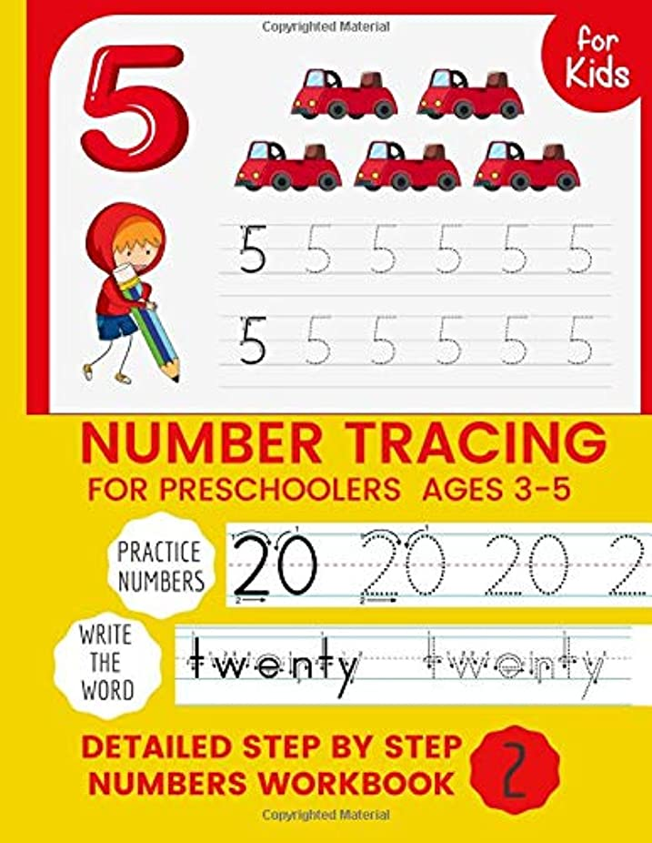 レンドオリエンテーション赤面Number Tracing for Preschoolers & Kids Ages 3-5: Number Writing Practice Book, Learning Numbers for Kindergarten, Trace Numbers Practice Workbook for Pre K, K preschool workbook activity  (Numbers Activity Book N°2) numbers 20 to 40