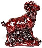 飾りの置物の彫像家の装飾中国の干支の彫像風水装飾赤い樹脂の守護者は家とオフィスのための富と幸運を引き付けます最高の新築祝いのお祝いの贈り物