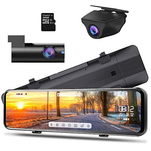 ニコマク NikoMaku 2021年3月最新型 ドライブレコーダー ミラー型 前後カメラ カメラ分離型 AS-J2 業界初11インチ フロントカメラを本体から完全に分離式 Super HDR ソニーIMX464センサー採用 デジタルインナーミラー 高画質 タッチパネル 前170°後140°広角 どらいぶれこーだー 1080P 同時録画 スーパー暗視 Gセンサー 地デジTVノイズ対策済 LED信号機対応 高温対策 駐車監視 防水のリアカメラ 32GBカード付属/128GB対応 日本語説明書 12ヶ月保証期間付き