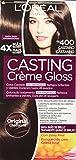 L'Oréal Paris Casting Créme Gloss Coloración sin Amoniaco, Tono 400 Castaño - 180 g