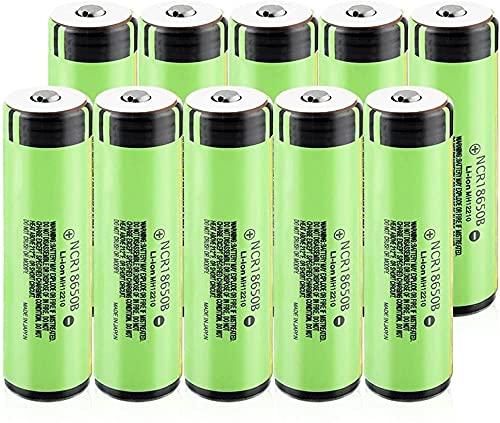 3,7 V 3400 Mah NCR 18650B Batería De Iones De Litio Recargable Adecuada para Power Bank Micrófono Faro 10 Uds