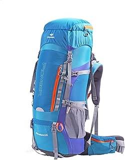 60L Outdoor Mountaineering Bag Shoulder Men and Women Travel Backpack Hiking Camping Travel Bag Shoulder Bag DWWSP (Color : Blue)