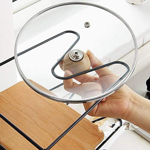 515YUCUsCrL - GFDFD Multi-funtion Pot Pan Lagerregal 8Tiers Pot Bratpfanne Deckel Lagerregal Organizer Küche Kochgeschirr Standhalter