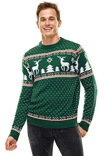 Herren Weihnachtspullover Unisex Hässliche Pulli Lustig Strickpullover Ugly Weihnachtspulli - Klassische Fairisle