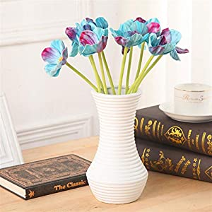 TRRT Fake Plants Artificial Anemones Flowers Branches Bouquets, for Wedding DIY Home Decoration Fake Flower