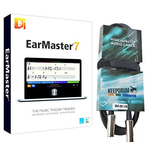 EarMaster 7 Gehörbildungs-Software + keepdrum MIDI-Kabel 2m