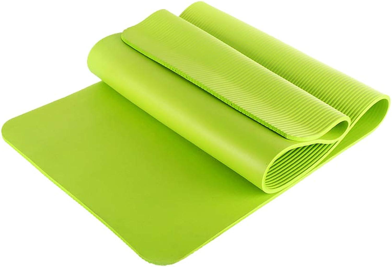 Yoga Mat Non-Slip Comfortable Soft Pilates   Beginner Home Sports Outdoor Entertainment Thickness 10 mm Purple   Green Pink   bluee Optional