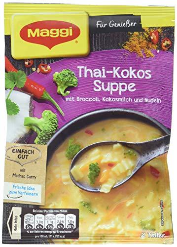 Maggi Für Geniesser Thai-Kokos Suppe, 9er Pack (9 x 52 g)