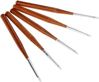 Sharplace ネイルアートペン ネイルブラシ ネイル 彫刻ペン ネイル筆 全3サイズ 5本セット - 13cm
