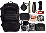 FOREGO Ultimate Adventure & Survival Backpack - Contains Survival, First-aid, and Camping Gear to Help You Thrive Outdoors (Black)